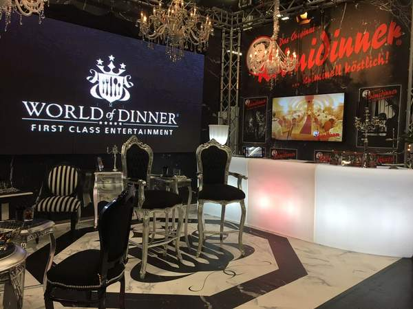 Das Original KRIMIDINNER auf der BEST OF EVENTS 2018 in den Westfalenhallen Dortmund